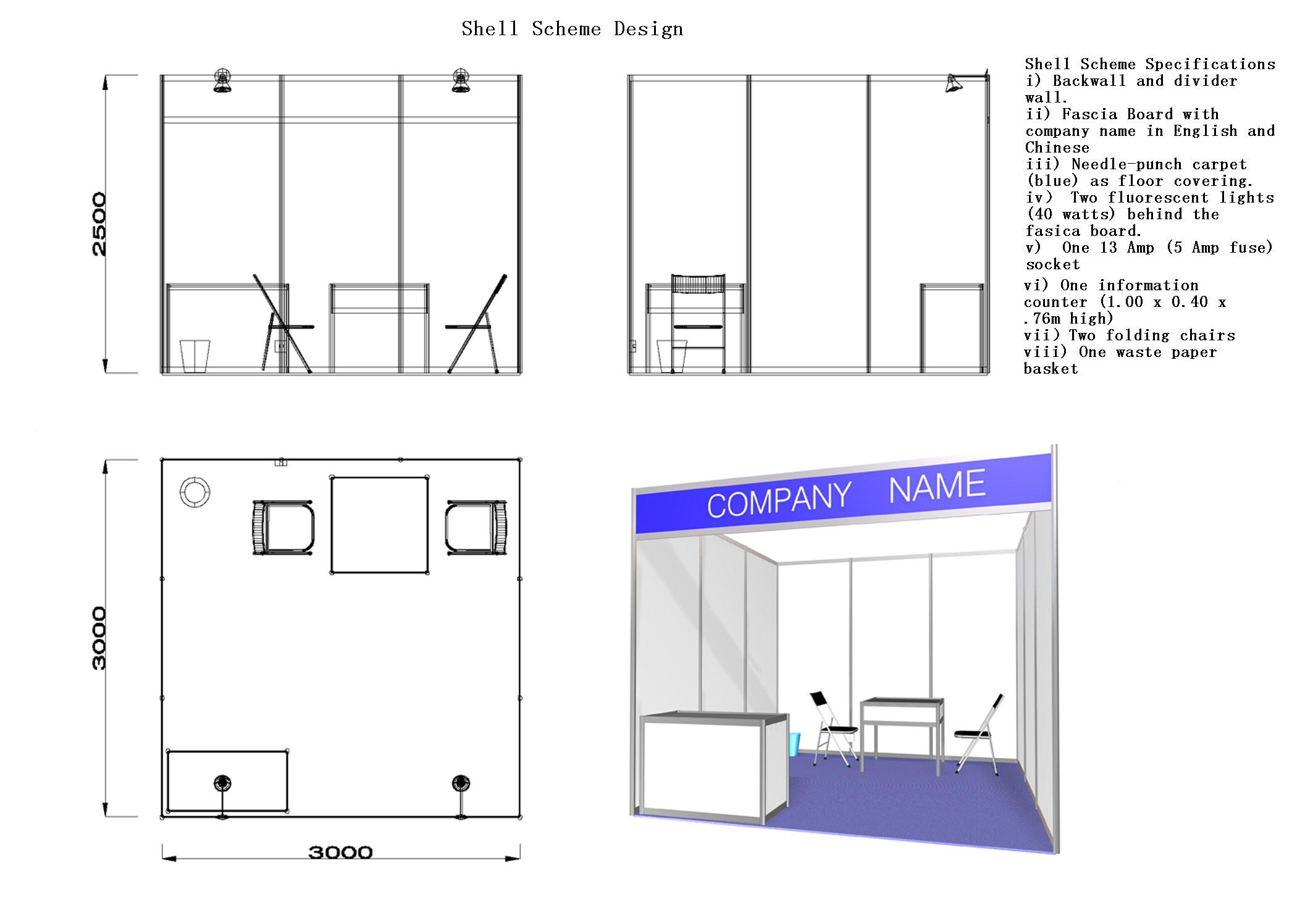 Exhibition Stand Design Specifications : Shell scheme booth malaysia variety standard